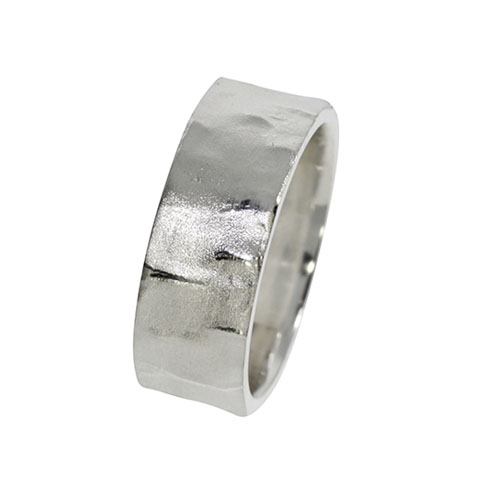 Borkenring Original Birke Textur Silber