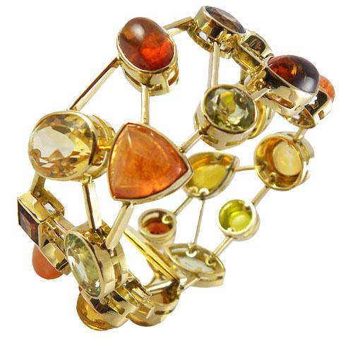 Farbenpracht GS-ARM01 Gold Armband Edelsteine