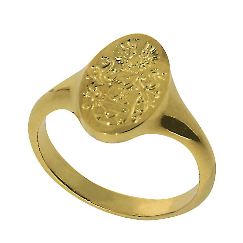Gelbgold Wappenring GS-WR02